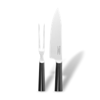Grand Cru Carving Set Steel and black, 2 pcs., 33,4 cm x 5,4 cm x 2 cm