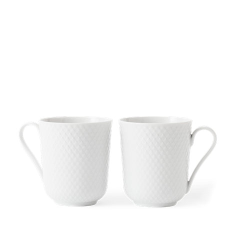 rhombe-mug-w-handle-33cl-white-2-pcs-rhombe