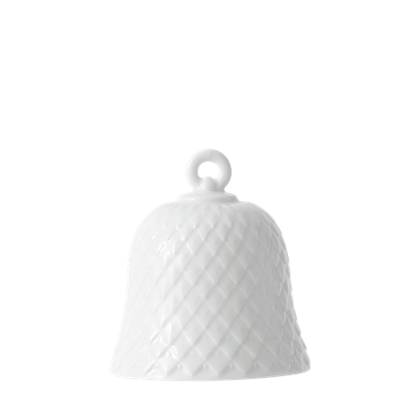 rhombe-decoration-bell-h7-5-white-porcelain-rhombe