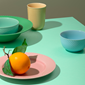 rhombe-color-soup-plate-oe24-5-cm-green-porcelain-