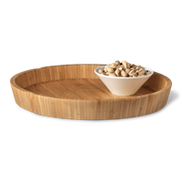 Grand Cru Serving tray Brown, Ø 36,3 cm