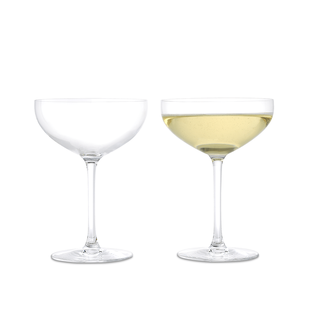 Premium Set Of Two Champagne Glasses