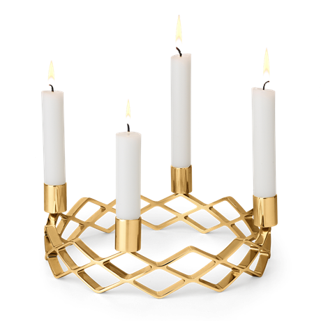 advent-candle-holder-gold-plated-karen-blixen-