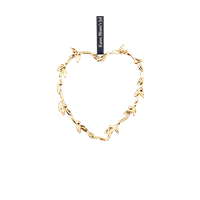 Karen Blixen Heart (hanging decoration) Gold-plated, 12 cm x 10,3 cm x 0,4 cm