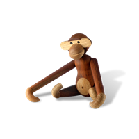 Kay Bojesen Monkey, small Teak and limba, 20 cm