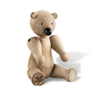 Kay Bojesen Bear Oak and maple, 15,5 cm