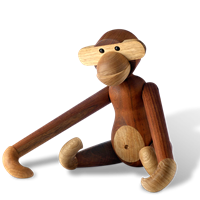 Kay Bojesen Monkey, large Teak and limba, 60 cm