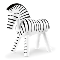 Kay Bojesen Zebra Black and white, 14 cm