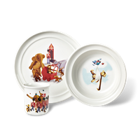 Kay Bojesen Kay Bojesen Porcelain Set, 3 pieces White with motifs