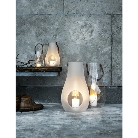 Design with Light Lanterne til bordet Frostet, 16 cm