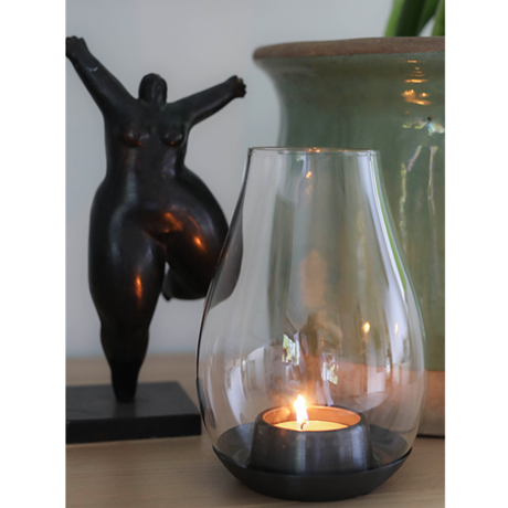 dwl-tealight-holder-black-h15-design-with-light