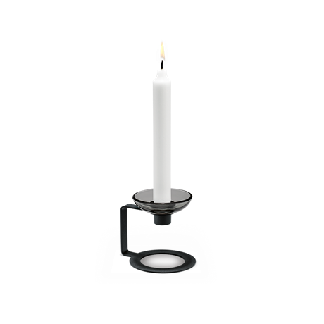 lumi-candle-holder-1-armed-9-cm-black-lumi