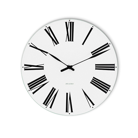 roman-wall-clock-oe48-cm-white-black-arne-jacobsen-roman