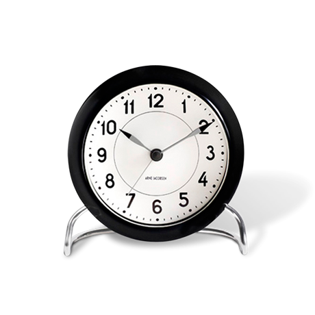 station-table-clock-black-white-oe-11-cm-alarm-arne-jacobsen---table