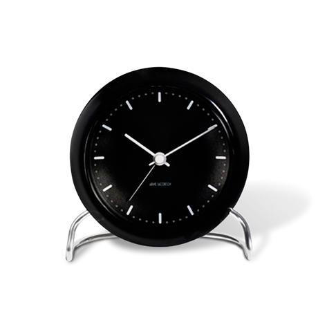 city-hall-table-clock-black-black-oe-11-cm-alarm-arne-jacobsen