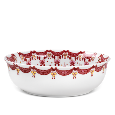 guirlande-christmas-bowl-red-oe24-5-cm-christmas-dinnerware