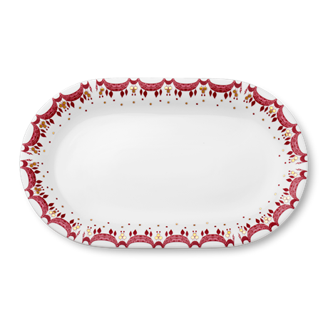guirlande-serving-dish-red-39x23-5-christmas-dinnerware
