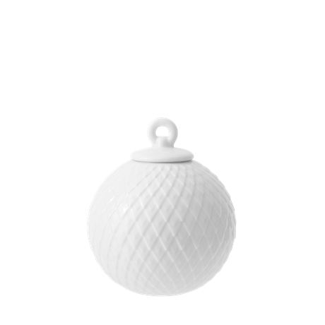 lyngby-decoration-bauble-oe7-cm-white-porcelain-rhombe