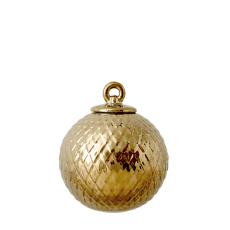 lyngby-decoration-bauble-oe7-cm-gold-porcelain-rhombe