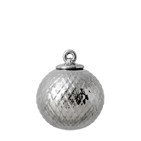 lyngby-decoration-bauble-oe7-cm-silver-porcelain-rhombe