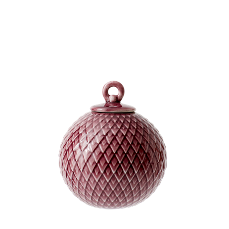 lyngby-decoration-bauble-oe7-cm-burgundy-porcelain-rhombe