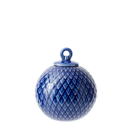 lyngby-decoration-bauble-oe7-cm-midnight-blue-porcelain-rhombe
