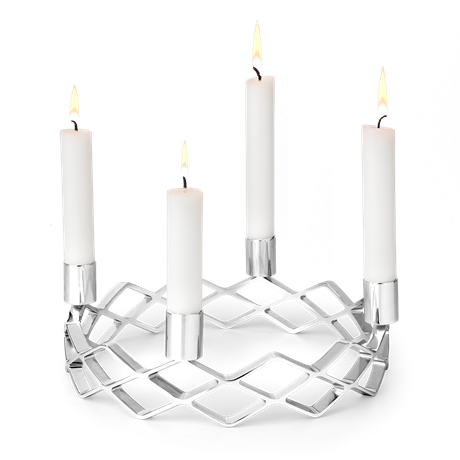 advent-candle-holder-oe25-5-cm-silver-plated-karen-blixen-