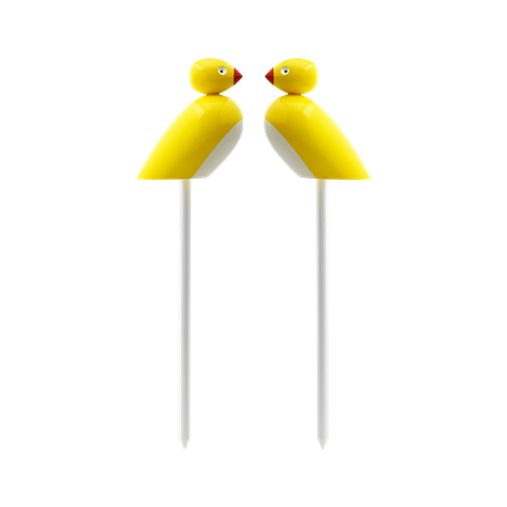 sparrows-on-sticks-yellow-2-pcs-figurer