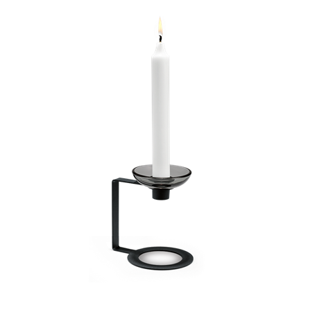 lumi-candle-holder-1-armed-12-5-cm-black-lumi