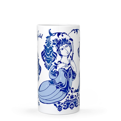 lily-vase-blue-h18-lily